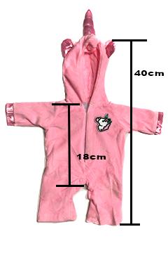 medidas pijama unicornio