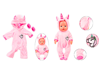 Trajes Unicornio para muñecos bebé