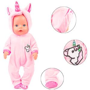 traje unicornio muñeco bebe
