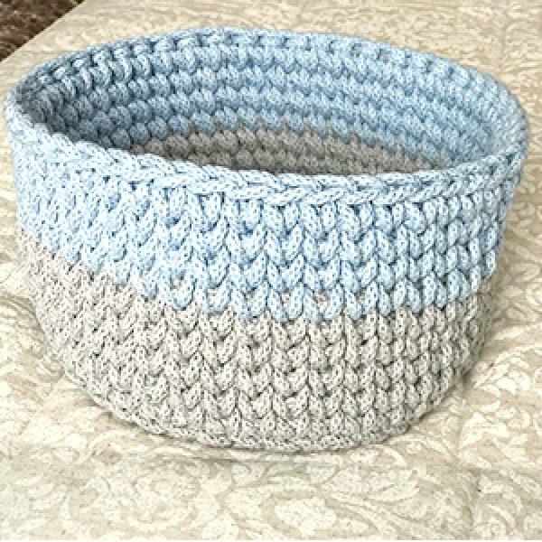 Cesta crochet regalo bebe