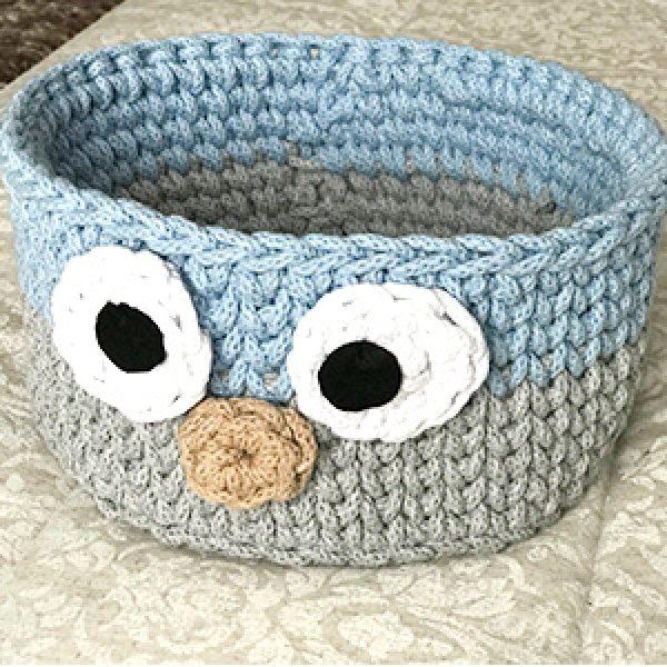 Cesta crochet regalo recién nacido